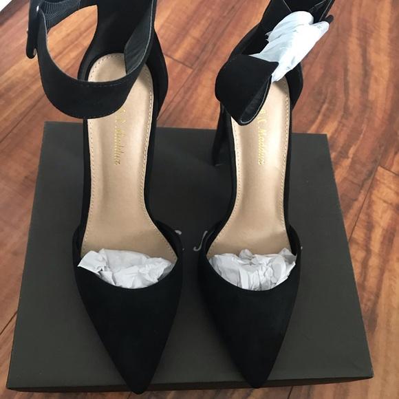 c8b74b3e7e8 Vici Sinatra Faux Suede Heel   Black Boutique
